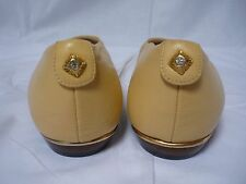 Vintage Leather Flat Ballet Shoes Size 4