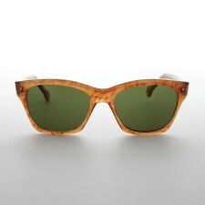 Classic Vintage Sunglass With Metal Rivets Persimmon Frame - Hemingway