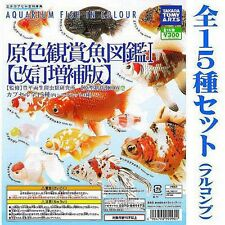 YUJIN Aquarium Fish In Colour Gashapon Goldfish Collection 2nd 15 Figure SET