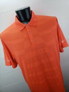Nike Golf Tour Performance Polo Mens XXL Orange Geometric Starr Pass CC Logo