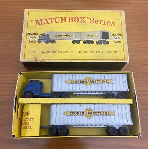 1962 MATCHBOX MAJOR PACK M-9 INTER STATE COOPER JARRETT DOUBLE FREIGHTER