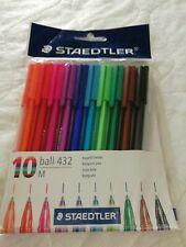 Staedtler Ball Point Pen Multi Colours Pack 10 New