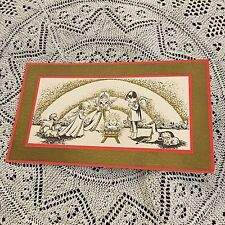 Vintage Greeting Card Front Christmas Angels Baby Jesus Golf
