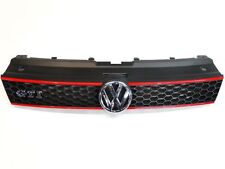 New Genuine VW POLO 6R GTI Front Radiator Grille Black Red 6R0853651R OEM