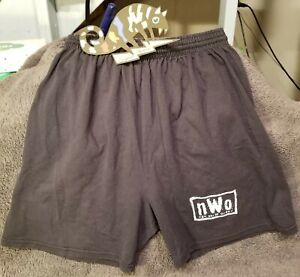 WCW 1998 Vintage NEW WORLD ORDER Drawstring Shorts T Shirt NWO WWF Medium M RARE