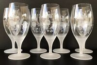 "Vintage Avon Hummingbird Frosted Crystal Iced Tea Goblets 7 7/8"" Set Of 7"