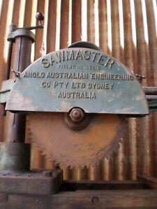 """Vintage """"SAWMASTER"""" an Exceller Product by Anglo Australian Engineering"""