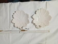 A546       Zeller Keramik weiß Blattschale 11 cm +-