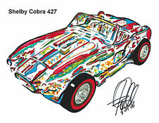 Shelby Cobra 427 Ford Sports Car Racing Print Poster Wall Art 8.5x11