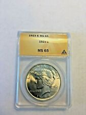 1923 MS 65 ANACS  Graded Peace Dollar