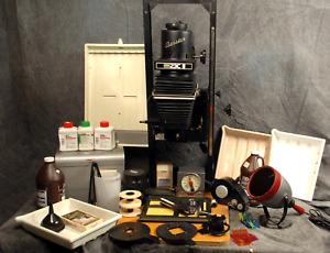 BESELER 23C II  ENLARGER  DARKROOM OUTFIT  + Lenses Chemistry & MORE Schneider