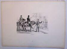 Lithographie de Charpentier, Gendarmerie montée