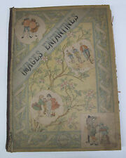 Juvenile Children's French France Images Enfantines Color Illus. Plates Comedy