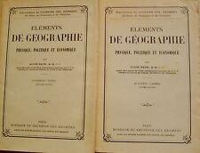 NAUD Louis - ELEMENTS DE GEOGRAPHIE - TEXTE + CARTES - 1937