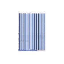 Bsc401 Blue Canyon PEVA Stripe Black Shower Curtain 2476