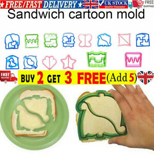 Kids DIY Lunch Sandwich Toast Mould Cookies Mold Cake Bread Food Cutter Tools