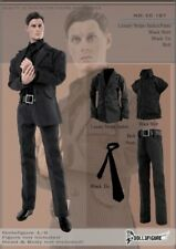 "DOLLSFIGURE CC187 1:6 Scale 12"" Male Action Figure Black stripe Suit Set Model"