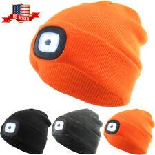 LED Light Beanie Winter Ski Hat Skull Cap Rechargeable USB