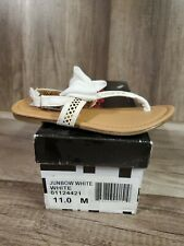 Not Rated Girl's Junbow Slingback Sandal, White , Youth 11 M NEW