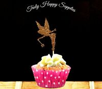 Fairy Cupcake Topper  6 or 12, in 29 glitter colours, Birthday cake girls & boy