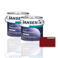 2 x Jansen ISO Wetterschutzfarbe schwedenrot 2,5l - Holzfarbe Schwedenrotfarbe
