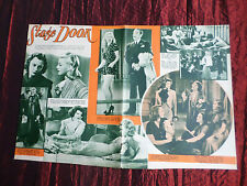 """STAGE DOOR  - 2 PAGES """" CLIPPING / CUTTING"""" - GINGER ROGERS - KATHARINE HEPBURN"""