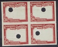MOZAMBIQUE COMPANY 1935 AIRMAIL 80C FRAME ONLY IMPERF PROOF BLOCK MNH **