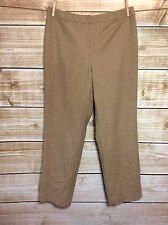 Talbots Wool Blend Stretch Tan Straight Leg Dress Pants Size 12