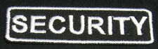 SECURITY Iron-On Patch/Badge for Bouncer Guard Officer T-Shirt Cap Uniform 25P