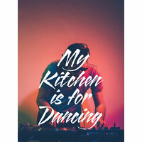 My Kitchen Dancing DJ Large Canvas Wall Art Print