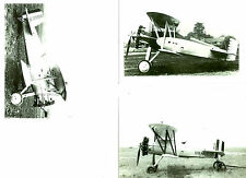 SET OF 3 WWII - LOT #29 B&W 4X6 PHOTOGRAPHS - U.S. Navy BIPLANES - AIRPLANES