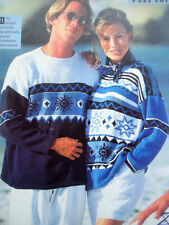 Mens Ladies Intarsia Summer JUMPER SWEATER KNITTING PATTERN cotton DK 36 - 46in