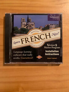 Learn French Now! Version 8 Master Program CD-ROM For Windows & Macintosh New