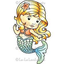 "La-La Land Mermaid Marci Cling Mount Rubber Stamps 4""X2.5"""