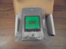 """DynaLock 6270 Illuminated 2"""" Square Green Button w/black """"EXIT"""" Momentary NEW!"""