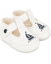 Baby Boys Baypods White Navy Yacht Design Pram Shoes Size 2