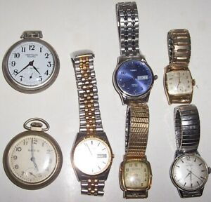 WRIST AND POCKETWATCH LOT - UNTESTED