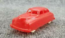 VINTAGE RENWAL RED PLASTIC CAR 1940s 50s WHITE WHEELS