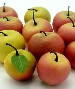 Lot Of 11 Vintage Assorted Artificial Decorative Fake Fruit Apples Lifelike