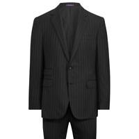 Ralph Lauren Purple Label Gregory Handmade Striped Wool 2 Button Notch Suit 38R