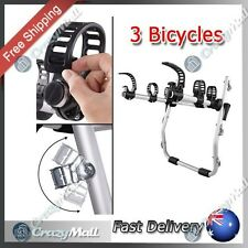 Bike Rack for 3 Bicycles Foldable Carrier for Car Easy Mount Strap-On Aluminium