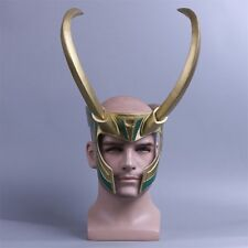 Cosplay Movie Thor3 Ragnarok Loki Laufeyson Helmet Halloween PVC Mask Adult Prop