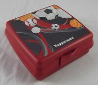 Tupperware A 126 Sandwichbox Bälle Fußball Pausendose Brotzeitdose Rot Neu OVP