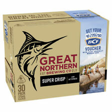 Great Northern Super Crisp Lager Beer 30x375mL Cans