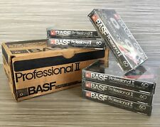 Lot Of 6 BASF 60 Professional II CrO2 High Bias Blank Cassette Tapes Sealed NOS