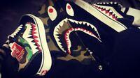 Vans x Bape Customs, Camo and Shark Teeth