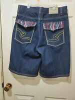 Vtg 90s Coogi Black Denim Jeans Shorts Baggy Streetwear Hip Hop Mens Sz 36 A25