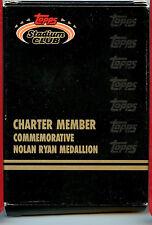 1991 Topps Charter Member Bronze Noylan Ryan Medallion Stadium Club z4