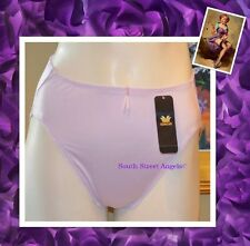 WACOAL 84282 ~ LILAC CREME ~ SATIN BODYSUEDE Hi-CUT BRIEF PANTIES  ~ LARGE / 7