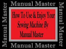 ADAMSON 135 Buttonhole Sewing Machine Operate & Adjustments Instructions Manual